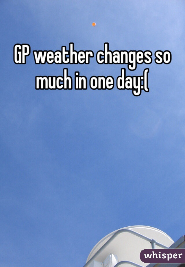 GP weather changes so much in one day:(