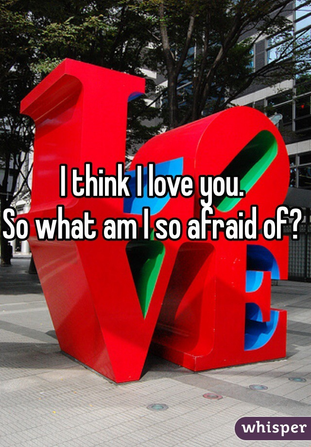 I think I love you.  So what am I so afraid of?