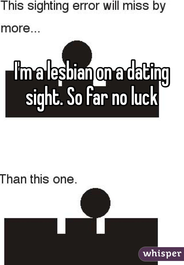 I'm a lesbian on a dating sight. So far no luck