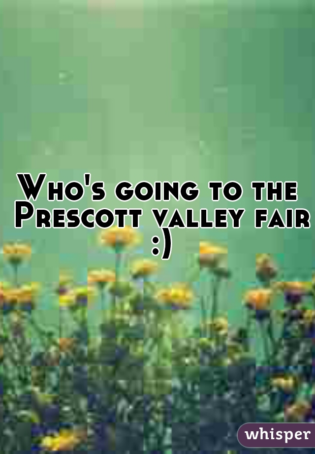 Who's going to the Prescott valley fair :)