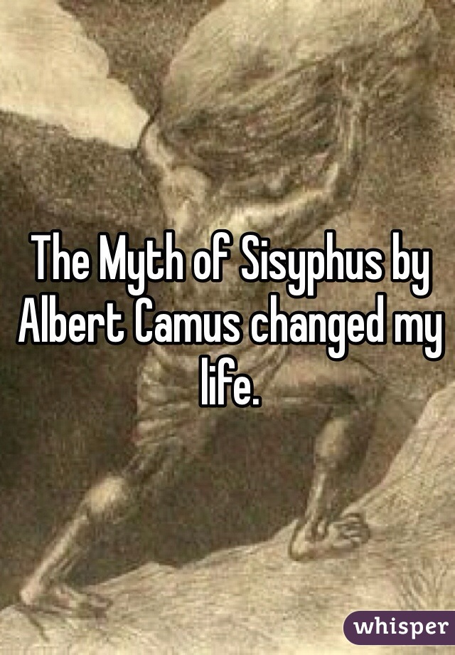 The Myth of Sisyphus by Albert Camus changed my life.