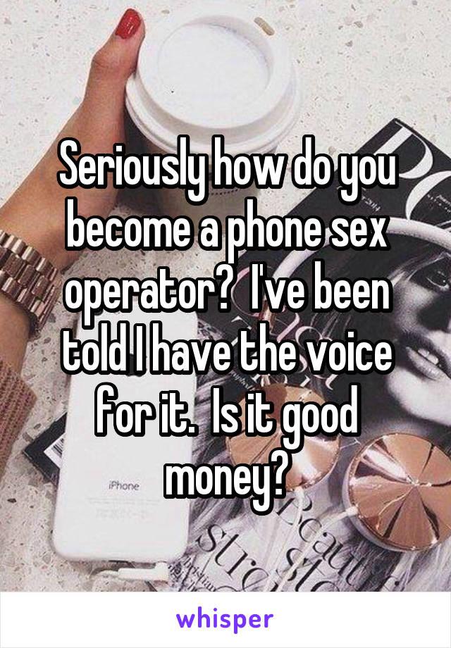 How do i become a sex operator