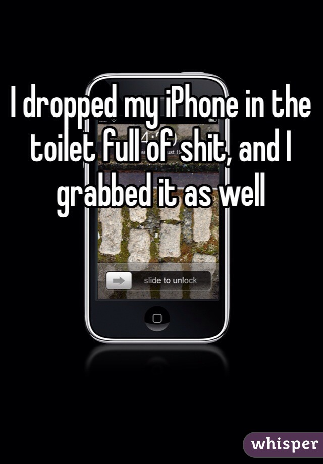 I dropped my iPhone in the toilet full of shit, and I