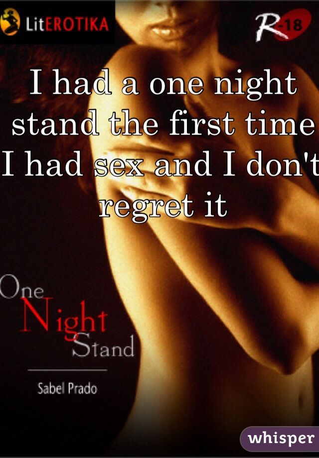 First time having a one night stand