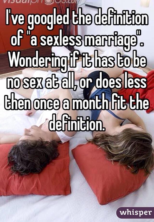 Sexless definition