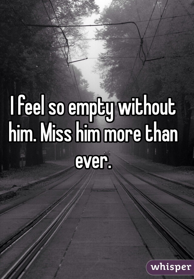 i feel so empty without him