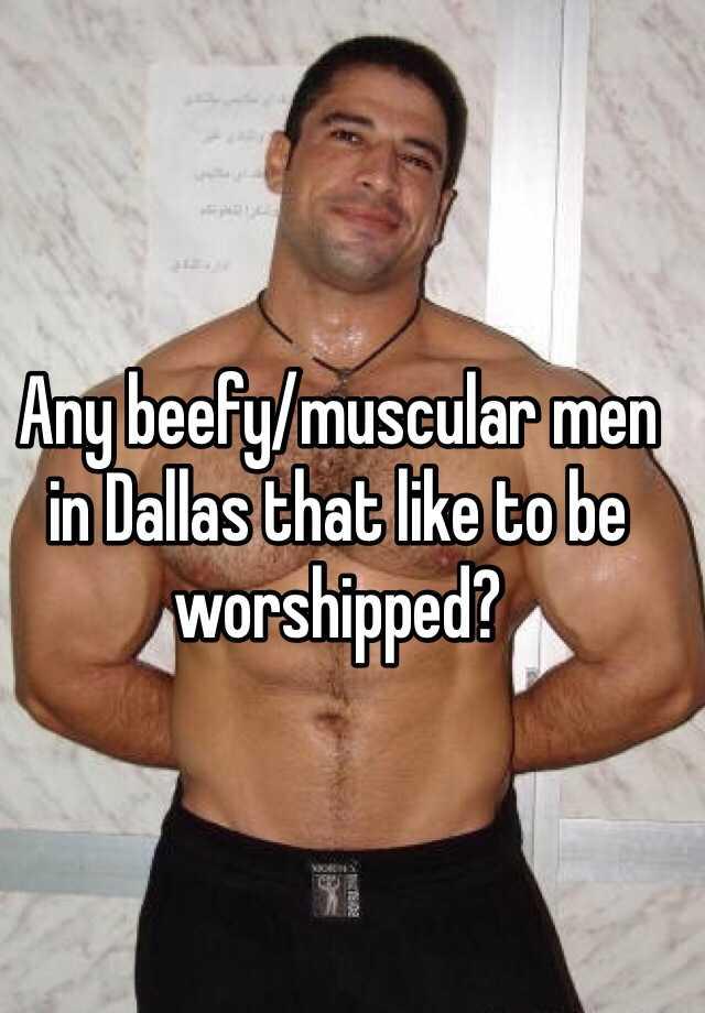 Muscle man worshipped