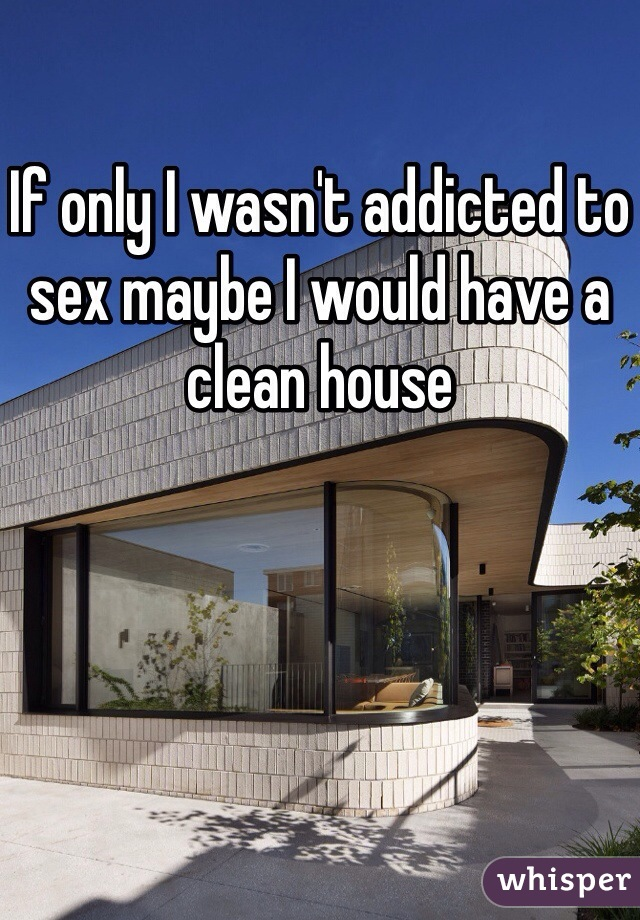 If only I wasn't addicted to sex maybe I would have a clean house