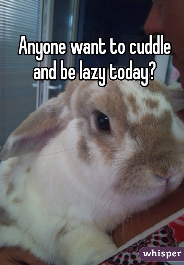 Anyone want to cuddle and be lazy today?