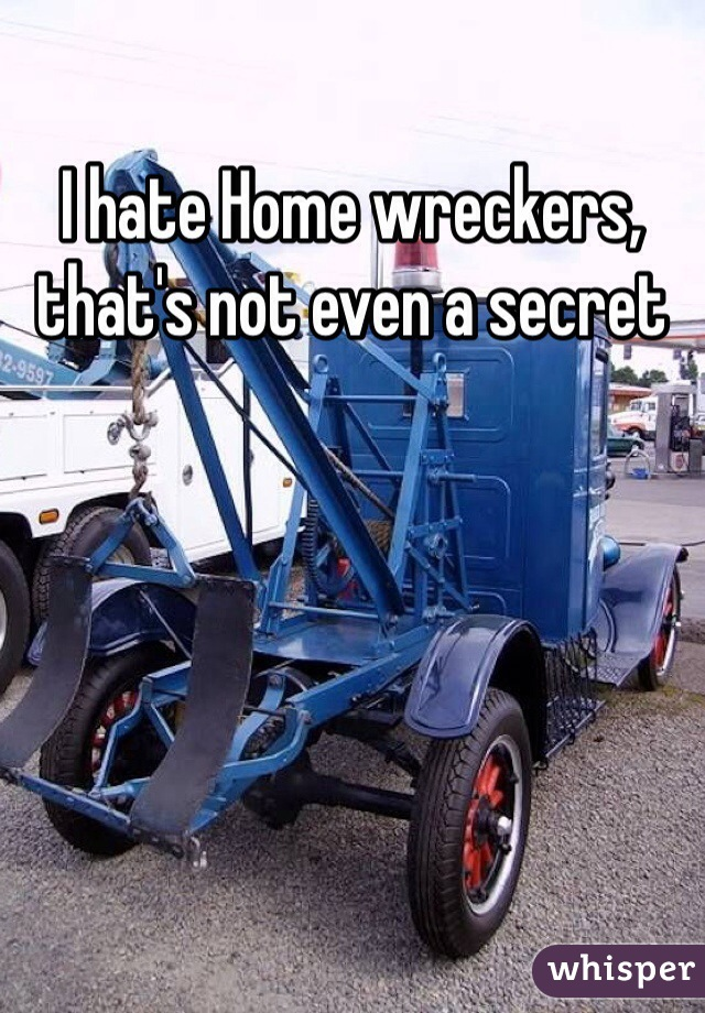I hate Home wreckers, that's not even a secret