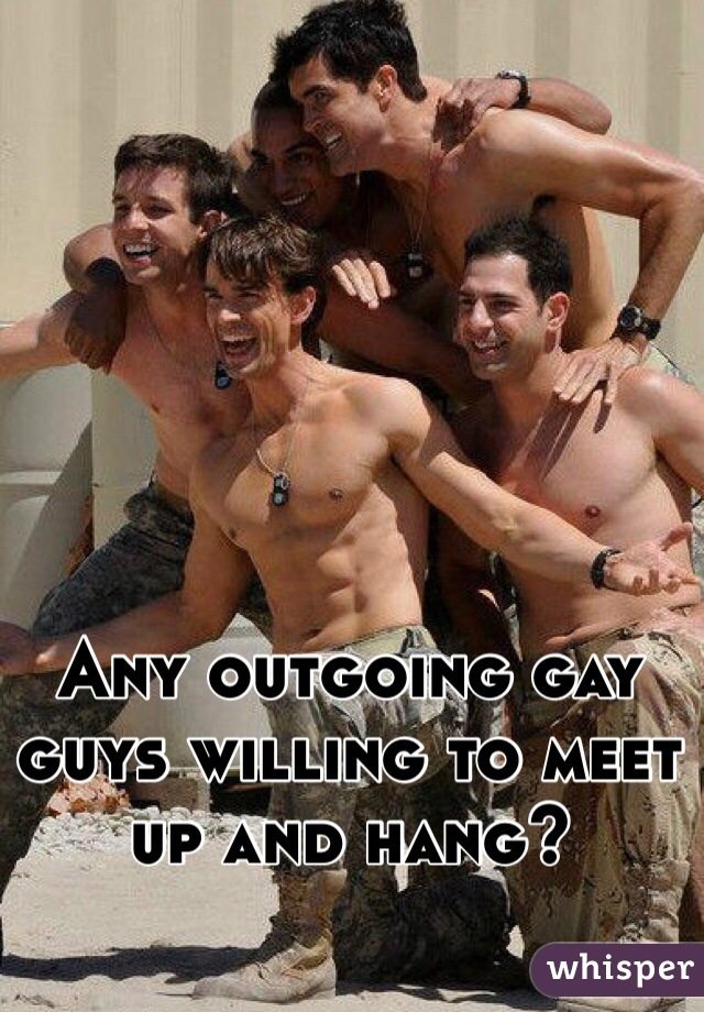 Any outgoing gay guys willing to meet up and hang?