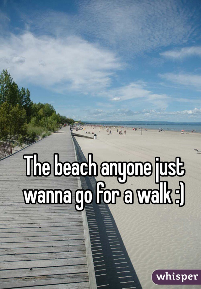The beach anyone just wanna go for a walk :)