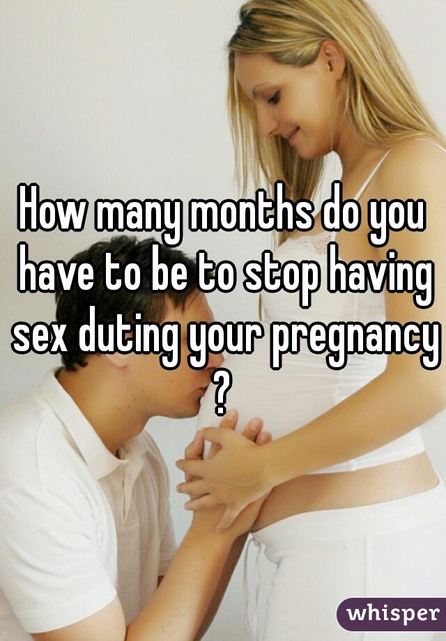 When do you stop having sex