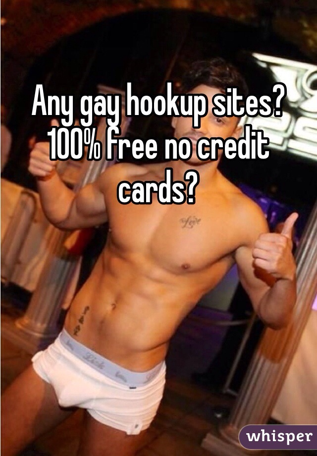 Free gay hookup websites