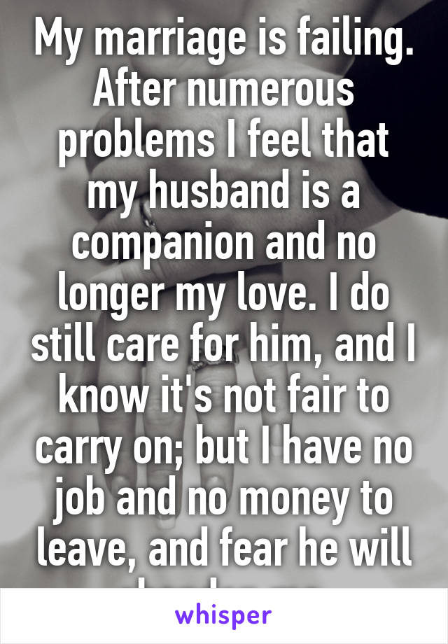 When marriage is failing
