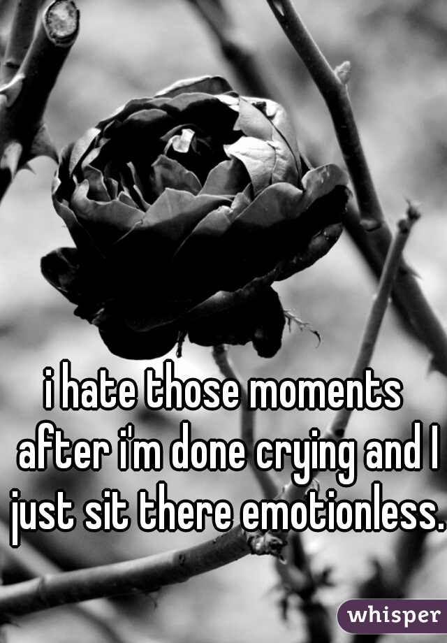 i hate those moments after i'm done crying and I just sit there emotionless.