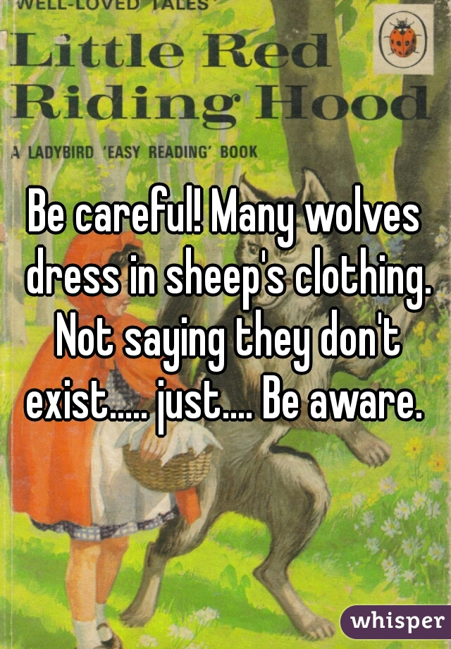 wolf dressed in sheeps clothing