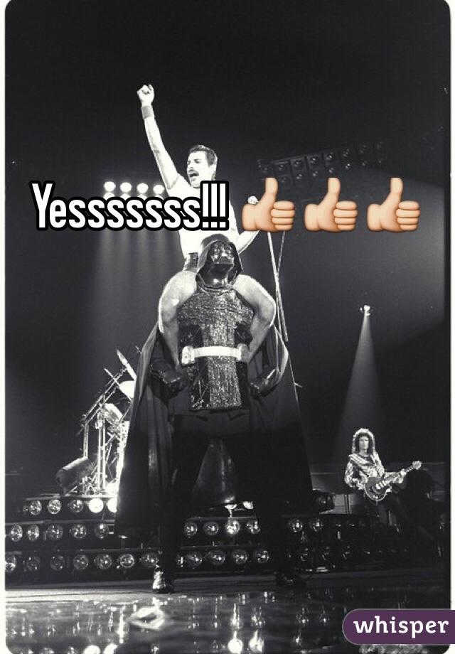 Yesssssss!!! 👍👍👍