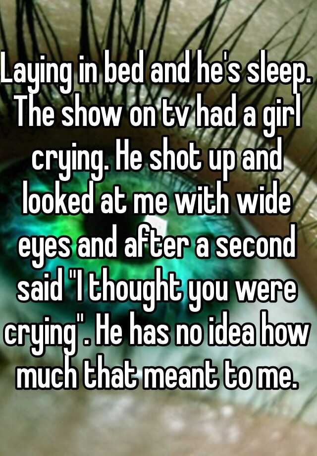 Sleep Stories App: Laying In Bed And He's Sleep. The Show On Tv Had A Girl