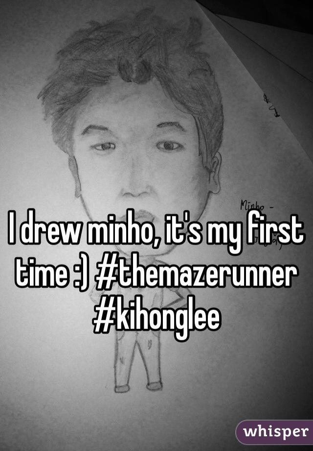 I drew minho, it's my first time :) #themazerunner #kihonglee