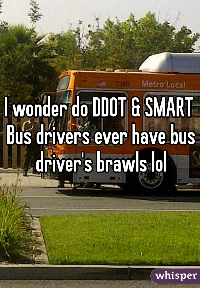 I wonder do DDOT & SMART Bus drivers ever have bus driver's brawls lol