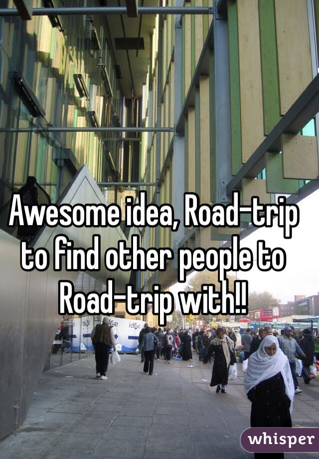 Awesome idea, Road-trip to find other people to Road-trip with!!