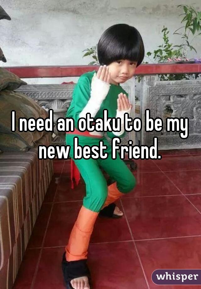 I need an otaku to be my new best friend.