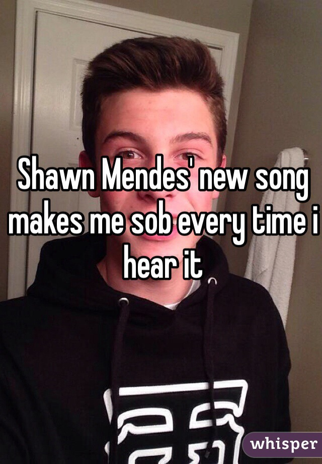 Shawn Mendes' new song makes me sob every time i hear it
