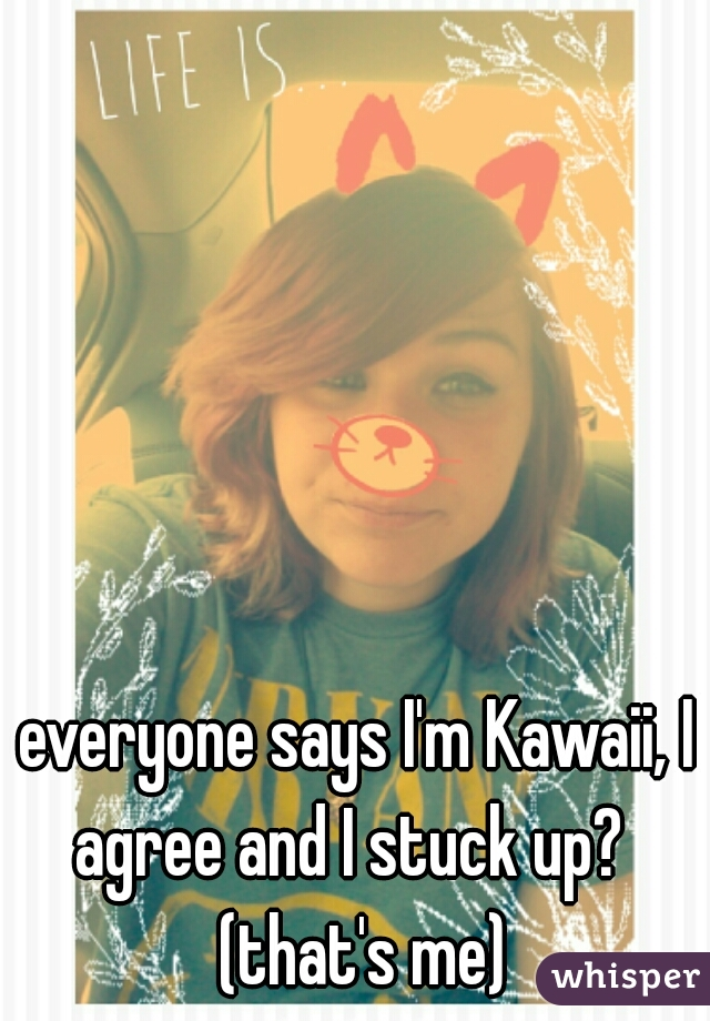 everyone says I'm Kawaii, I agree and I stuck up?   (that's me)