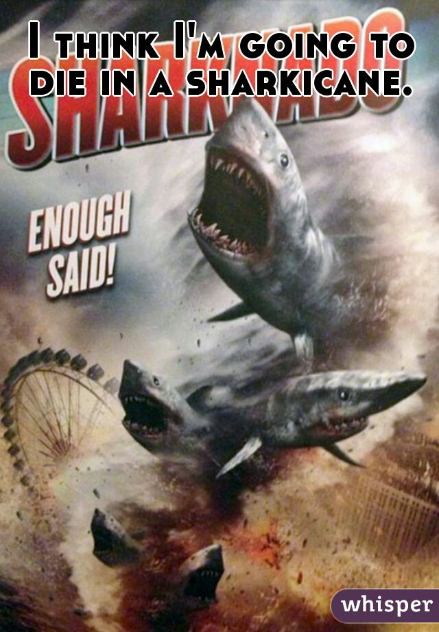 I think I'm going to die in a sharkicane.