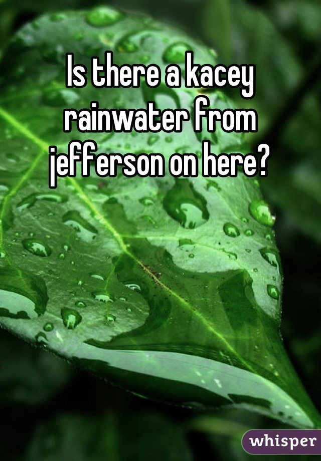 Is there a kacey rainwater from jefferson on here?