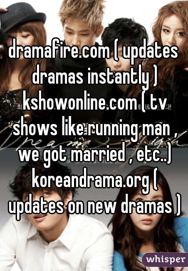 Com updates dramas instantly kshowonline tv shows like dramafire updates dramas instantly kshowonline tv shows like running man we got married etc stopboris Image collections