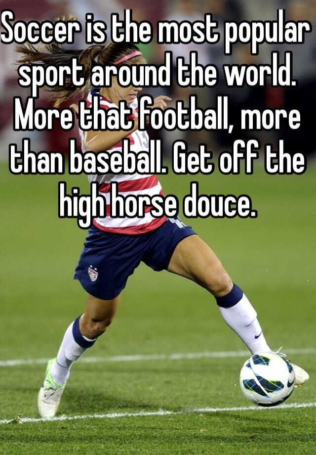 an analysis of football as the most popular sport in the world 25 world's most popular sports - sport is any physical activity that usually involves a competition as every individual has individual likings for a particular football or soccer is the undisputed leader in the pool of sport in fact, even the second most popular game is not even close to matching the.