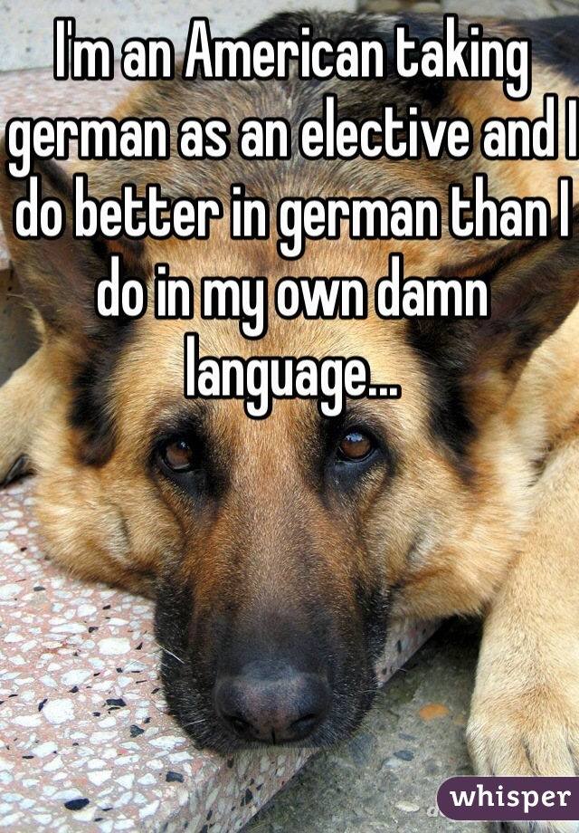 I'm an American taking german as an elective and I do better in german than I do in my own damn language...