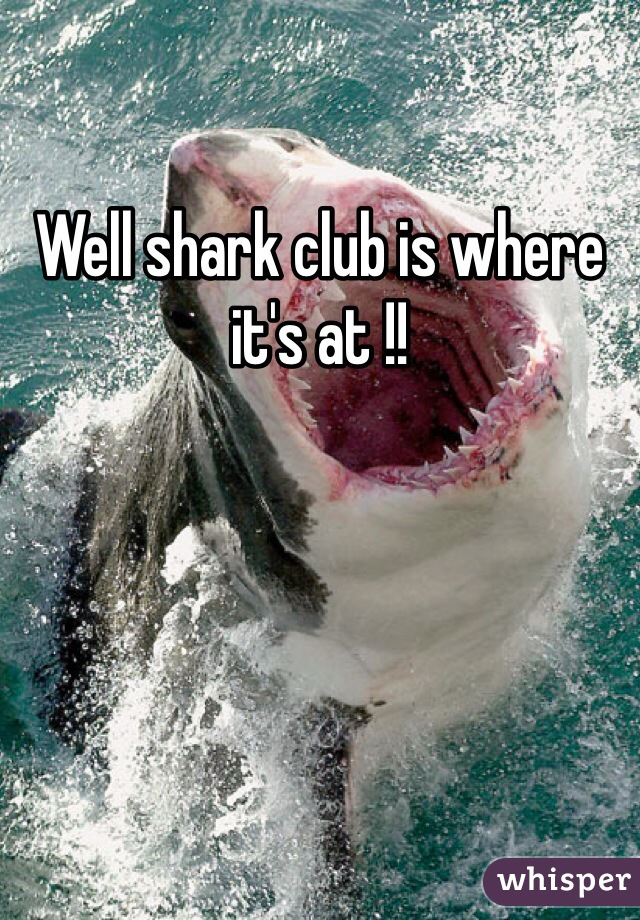 Well shark club is where it's at !!