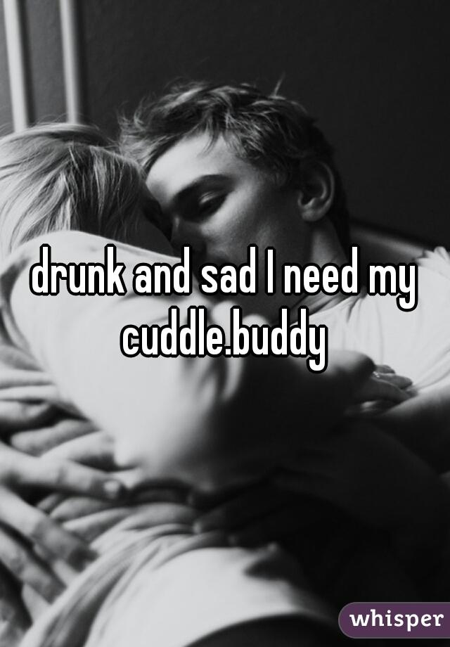 drunk and sad I need my cuddle.buddy