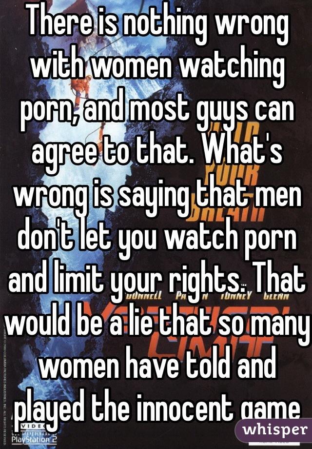 why men lie about porn
