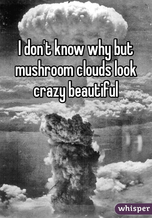 I don't know why but mushroom clouds look crazy beautiful