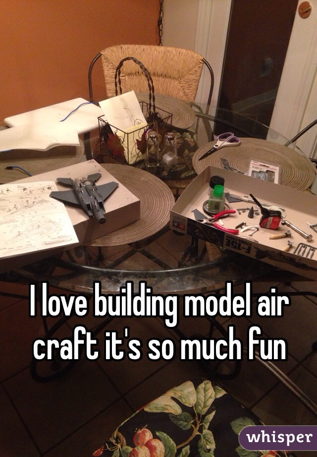 I love building model air craft it's so much fun