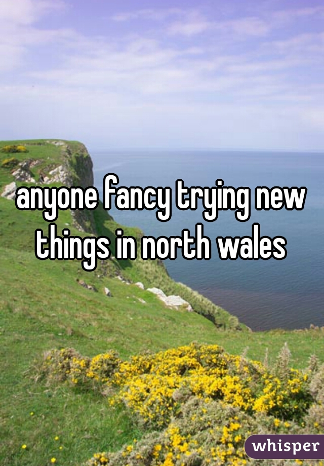 anyone fancy trying new things in north wales