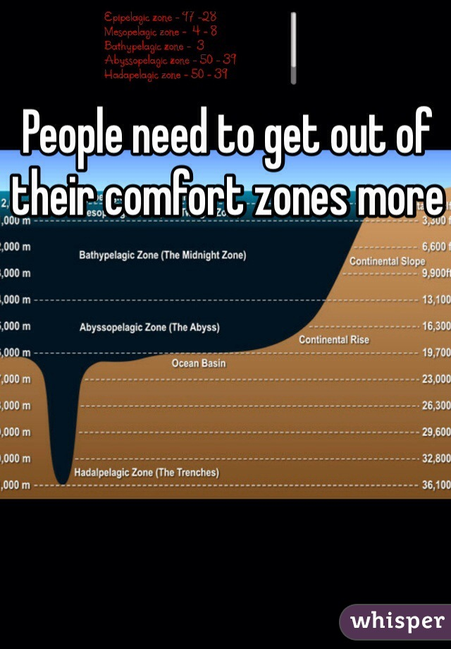 People need to get out of their comfort zones more