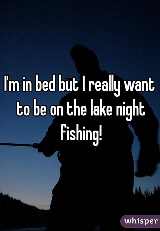I'm in bed but I really want to be on the lake night fishing!