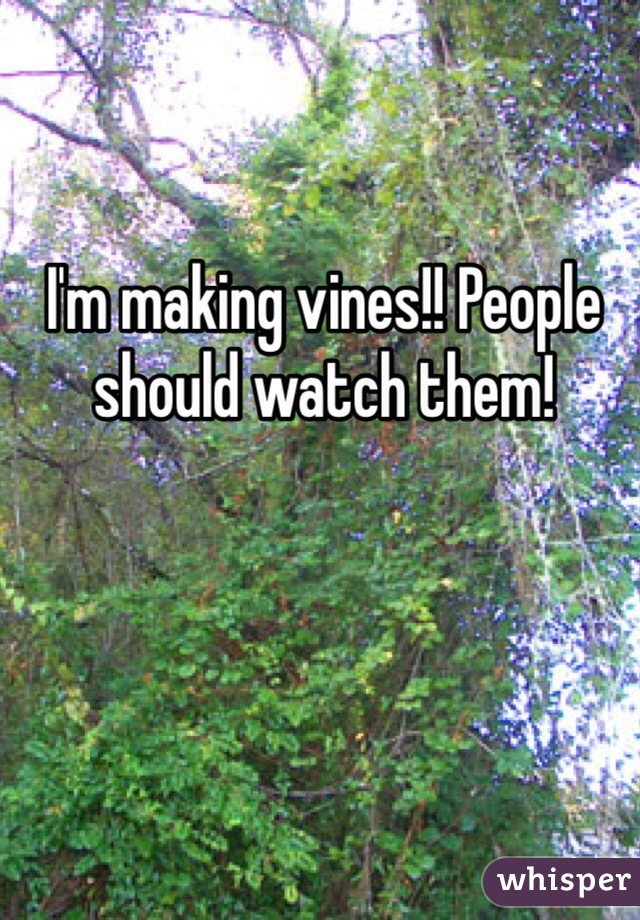 I'm making vines!! People should watch them!