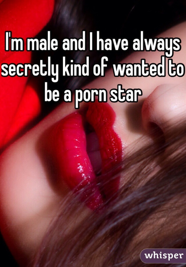 I'm male and I have always secretly kind of wanted to be a porn star