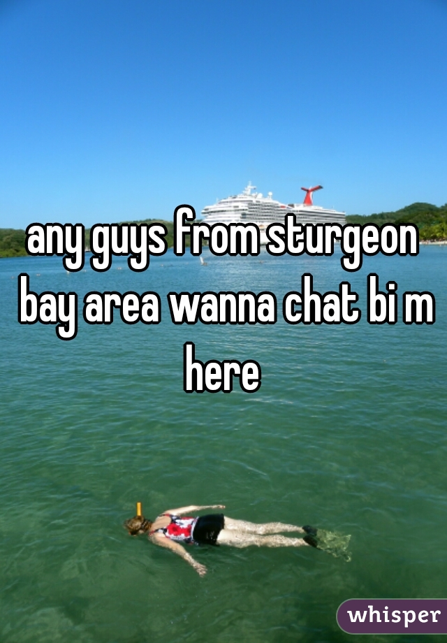 any guys from sturgeon bay area wanna chat bi m here
