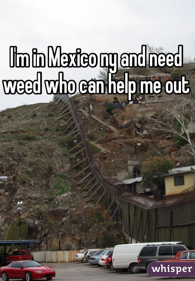 I'm in Mexico ny and need weed who can help me out