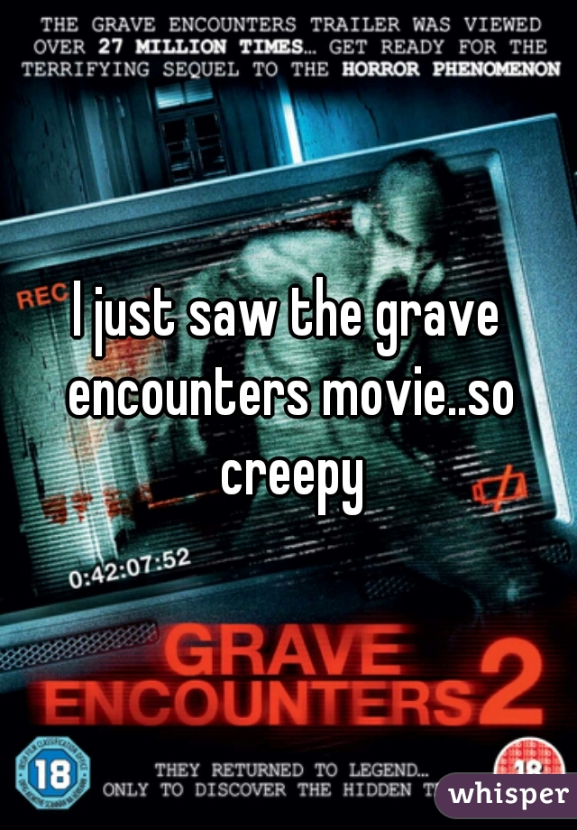 I just saw the grave encounters movie..so creepy