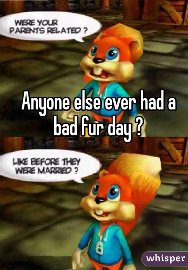 Anyone else ever had a bad fur day ?