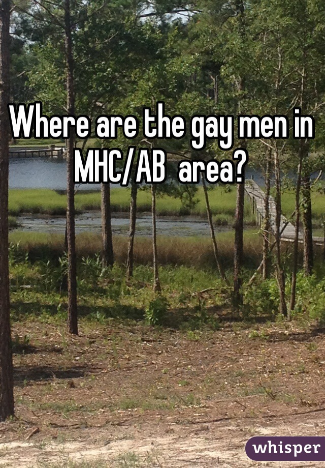 Where are the gay men in MHC/AB  area?