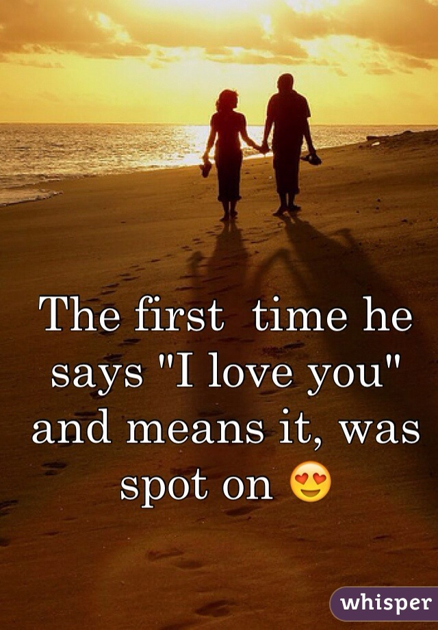 """The first  time he says """"I love you"""" and means it, was spot on 😍"""